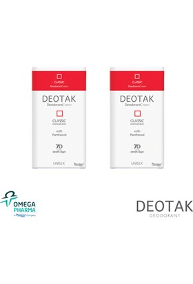 Deotak Krem Deodorant Klasik 2 Adet - 7 Gün Ter Kokusunu Yok Eder