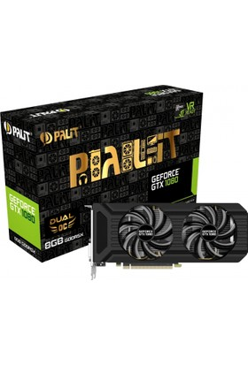 Palit GeForce GTX1080 Dual O.C 8GB 256Bit GDDR5 Ekran Kartı (NEB1080U15P2-1045D)