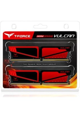 Team T-Force Vulcan 8GB(4GBx2) DDR4 2400MHz Gaming Soğutuculu Ram Bellek (TM4TVUL240042RD)