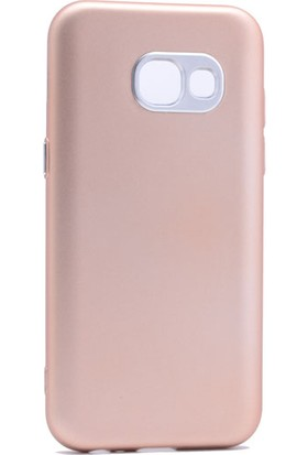 Case 4U Samsung Galaxy A7 2017 Silikon Kılıf Luxury Gri