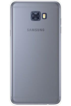Case 4U Samsung Galaxy C7 Pro Silikon Kılıf Şeffaf