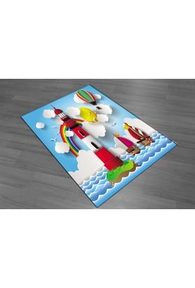 Evperest Deniz Fenerli Çocuk Halısı 100X140
