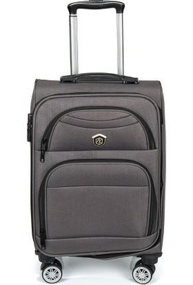 Nk VLZ-0010 Küçük Boy Gri Cruise Luggage 8 Wheel Valiz/Bavul Seti