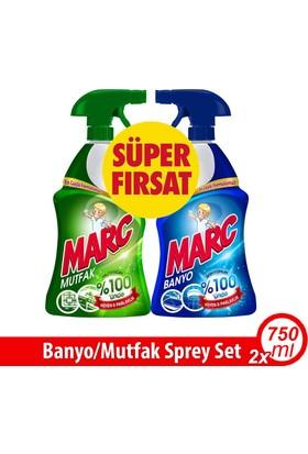 Marc Banyo ve Mutfak Temizleyici Yağ Çözücü & Kireç Sökücü Sprey 2'li Set / 2 x 750ml