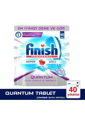 Finish Bulaşık Makinesi Deterjanı Quantum Tablet 40'lı Çamaşır Suyu Etkili