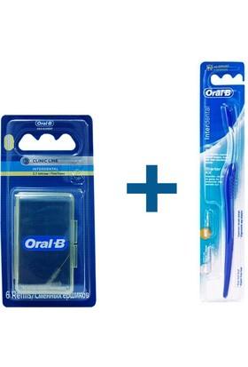 Oral-B Diş Fırçası İnterdental Arayüz Düz+Oral-B Arayüz Diş Fırçası Yedeği Düz 6 Adet