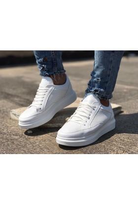 Delikli Erkek Ayakkabısı Beyaz