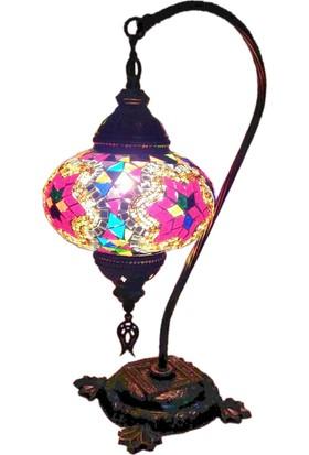 Otantik Osmanlı Dekoratif Mozaik Deve Boynu Olta Lamba (No:3)