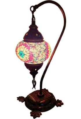Otantik Osmanlı Dekoratif Mozaik Deve Boynu Olta Lamba (No:2)