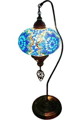 Otantik Osmanlı Dekoratif Mozaik Deve Boynu Olta Lamba (No:5)