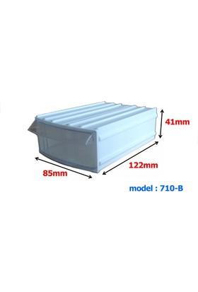 Mimbox 710 Beyaz Plastik Çekmeceli Kutu 85X122X41Mm