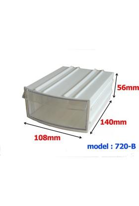 Mimbox 720 Beyaz Plastik Çekmeceli Kutu 108X140X56Mm