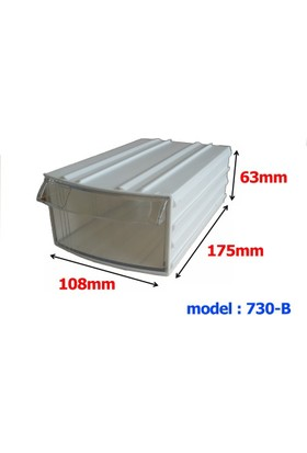 Mimbox 730 Beyaz Plastik Çekmeceli Kutu 108X175X63Mm