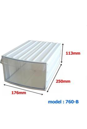 Mimbox 760 Beyaz Plastik Çekmeceli Kutu 176X250X113Mm