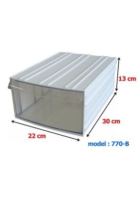 Mimbox 770 Beyaz Plastik Çekmeceli Kutu 220X300X130Mm