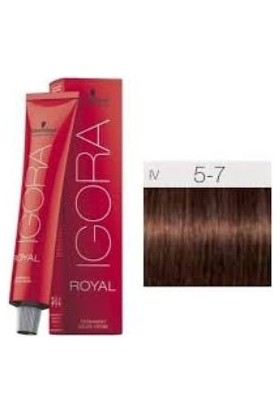 İgora Royal Saç Boyası 5.7 Açık Kahve Bakır