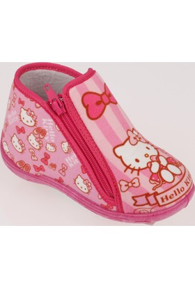 Hello Kitty Pembe Kız Çocuk Panduf Ve Anaokulu Ayakkabısı