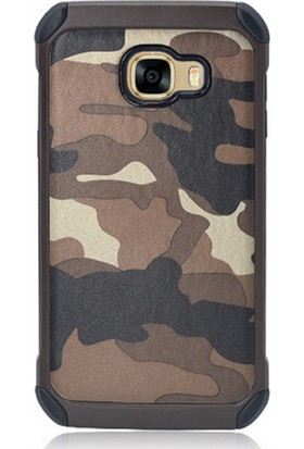 Gpack Samsung Galaxy J5 Prime Kılıf Kamuflaj Tarz Silikon Case