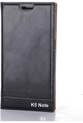 Gpack Lenovo K5 Note Kılıf Gizli Mıknatıslı Düz Milano + Kalem + Cam