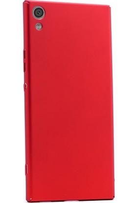 Gpack Sony Xperia Xa1 Ultra Kılıf Full Kavrayan Sert Rubber + Cam
