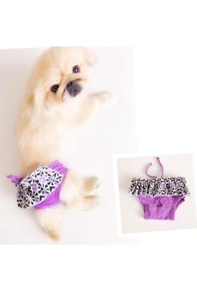 Kemique Eflatun Fırfırlı Kemique'S Secret Köpek İç Çamaşırı Regl Külot Don