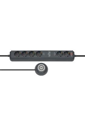 Brennenstuhl Eco Line Comfort Switch Plus Kumandalı 2+4 Uzatma Priz Siyah
