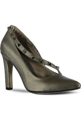 Marjin Aje Topuklu Ayakkabı Platin