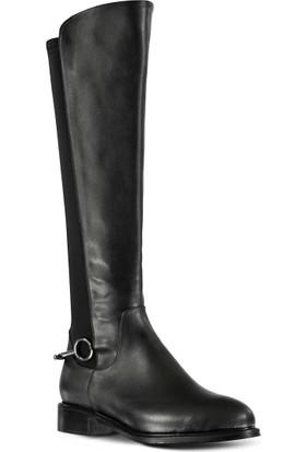 Marjin Cusgo Düz Çizme Siyah