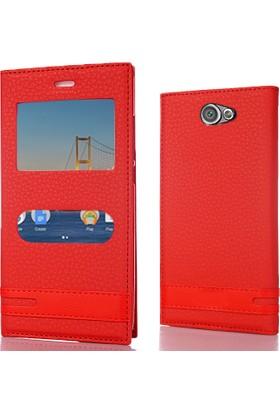 CoverZone General Mobile GM6 Kılıf Pencereli Elite Deri