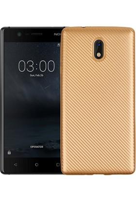 CoverZone Nokia 5 Kılıf Karbon Silikon