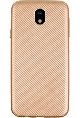 Coverzone Samsung Galaxy J7 2017 Kılıf J730 Karbon Silikon