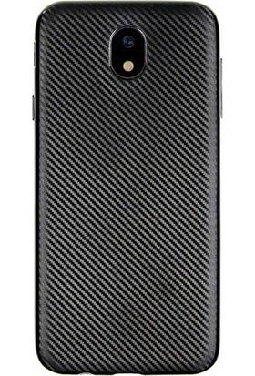Coverzone Samsung Galaxy J7 2017 Kılıf J730 Karbon Silikon + Cam