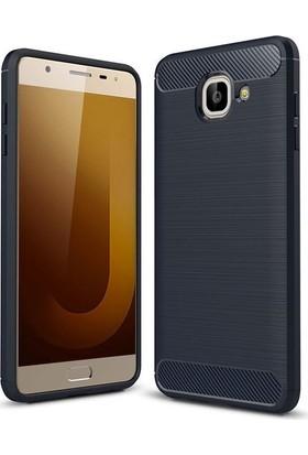 Teleplus Samsung Galaxy J7 Max Özel Karbon ve Silikonlu Kılıf + Cam Ekran Koruyucu