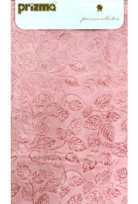 Prizma 2`li Banyo Paspas Takımı - Yaprak Pembe