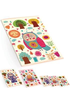 Keskin Color Plastik Kapak A4 60 Yaprak Çizgili Defter - Baykuş Desenli