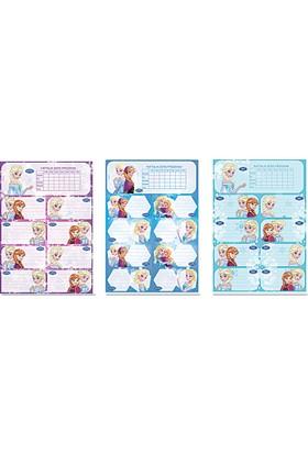 Frozen Ders Programlı 3'Lü Etiket