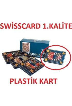 Toptancıamca Swiss Card 1. Kalite Plastik iskambil Kağıdı 2 Deste Kart