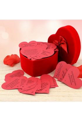 Toptancıamca Romantik Aşk Kavanozu 365 Güne 365 Ayrı Kalp Not ile