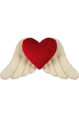 Hdm Sevgiliye Hediye Kalpli Yastık Kanatlı Melek 50 cm