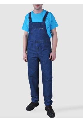 Askılı Bahçıvan Tulum Kot İş Tulumu İş Elbisesi Kot Tulum