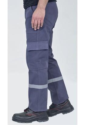 İş Pantolonu Kışlık Reflektörlü Kargo Cepli