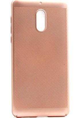 Kny Nokia 5 Kılıf İnce Delikli Rubber Arka Kapak + Cam
