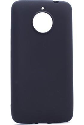 Kny Lenovo Moto E4 Plus Kılıf İnce Mat Soft Silikon + Cam