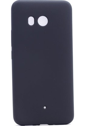 Kny HTC U11 Kılıf İnce Mat Soft Silikon + Cam