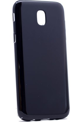 Kny Samsung Galaxy J7 Pro Kılıf Parlak Sert Arka Kapak Rubber + Cam