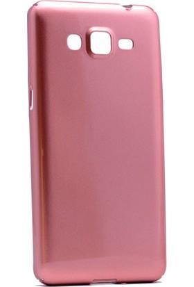 Kny Samsung Galaxy J2 Prime Kılıf Parlak Sert Arka Kapak Rubber + Cam