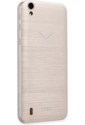 Kny Vestel Venüs 5530 Kılıf Ultra İnce Şeffaf Silikon + Cam