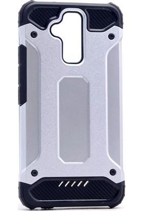 Kny Asus Zenfone 3 Max 5.2'' ZC520TL Kılıf Çift Katmanlı Armour Case + Cam