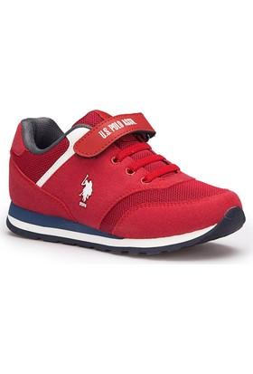 U.S. Polo Assn. Micro Kırmızı Unisex Çocuk Sneaker Ayakkabı