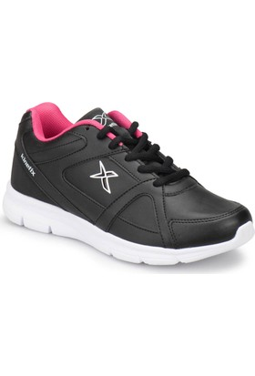 Kinetix Kalen Pu W Siyah Beyaz Pembe Kadın Koşu Ayakkabısı